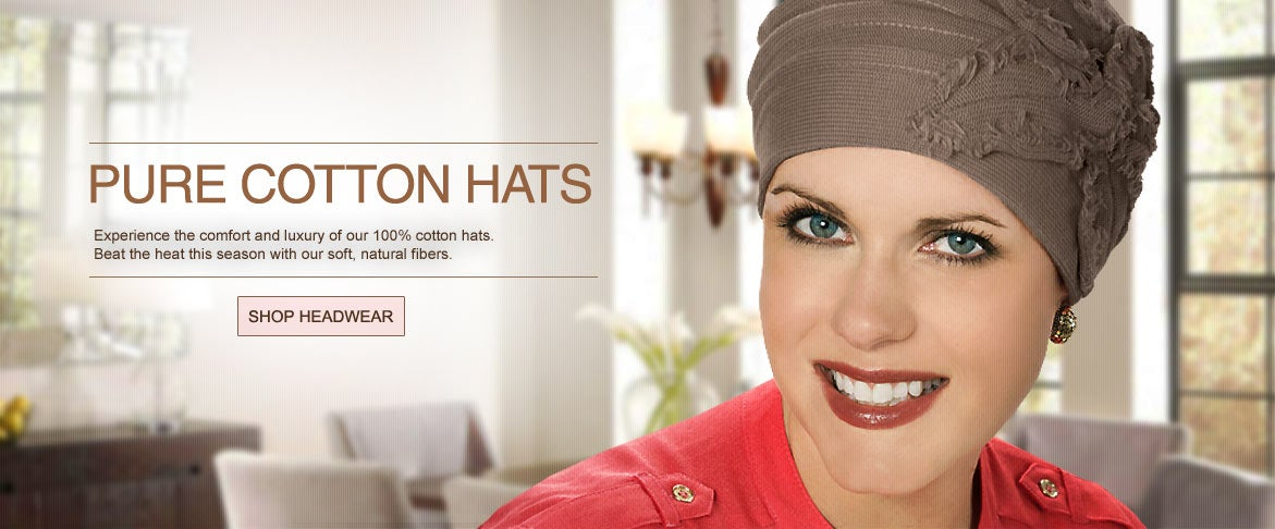 Headwear for cancer patients and hair loss. Shop cancer hats for chemotherapy.