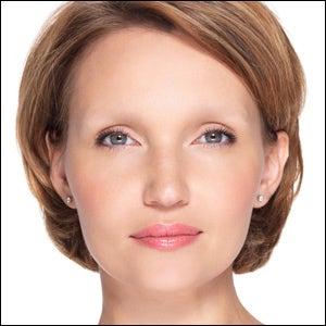 applying eyebrows with an eyebrow pencil makeup