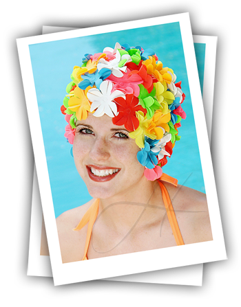 cancer hat party ideas - swim cap beach party